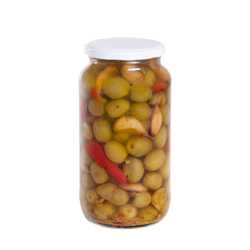 Traditional Spanish style split olives 950 ml